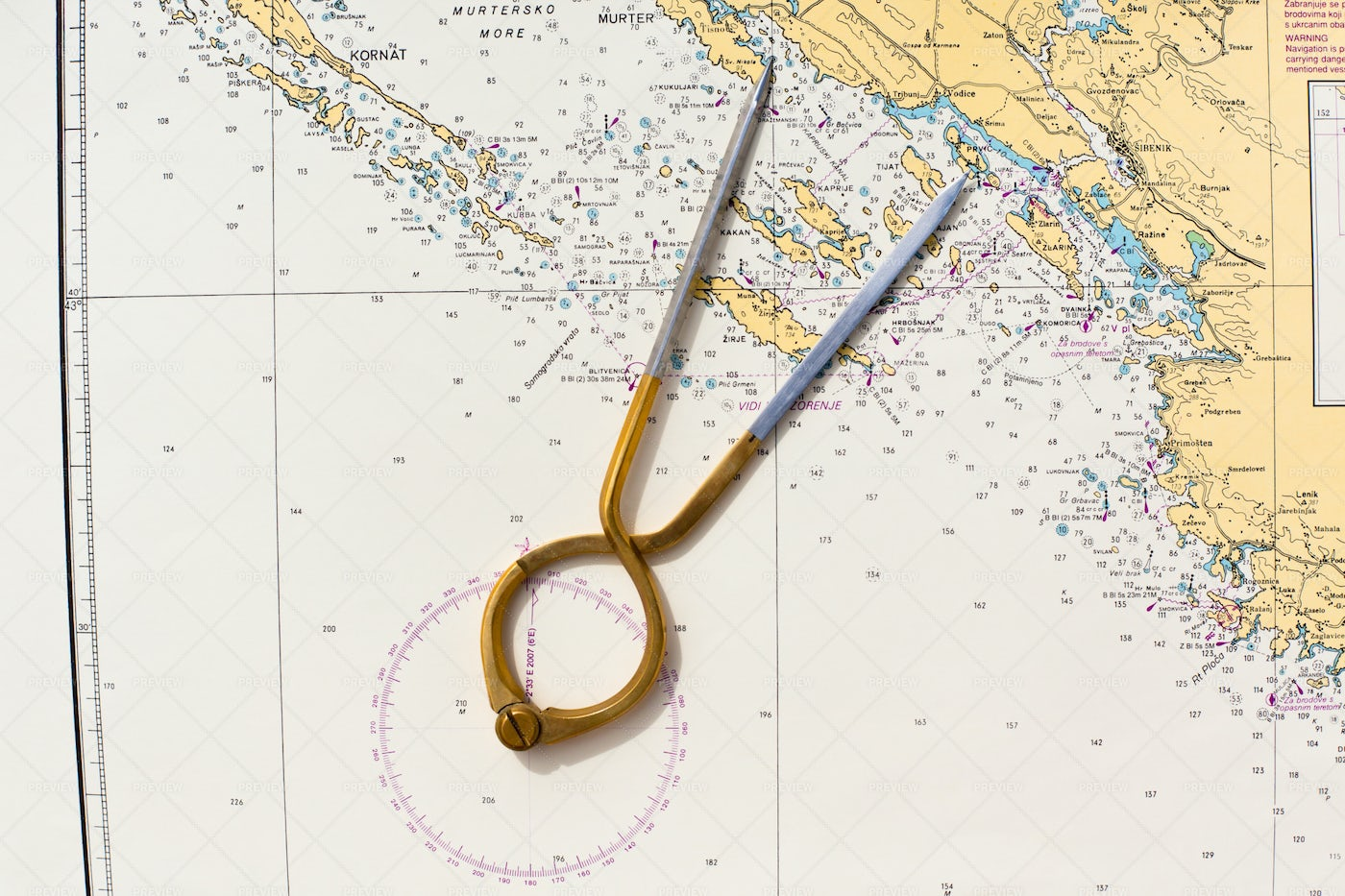 Compasses For Yacht Navigation: Stock Photos