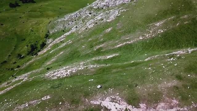 Aerial Shot Of White Mountain: Stock Video