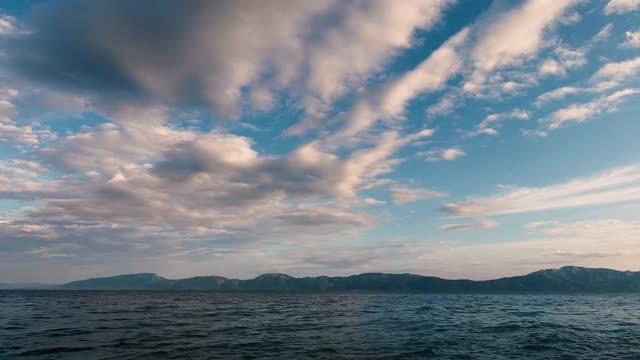 Beautiful Sky And Ocean: Stock Video
