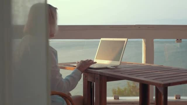 Woman Browsing On  A Laptop: Stock Video