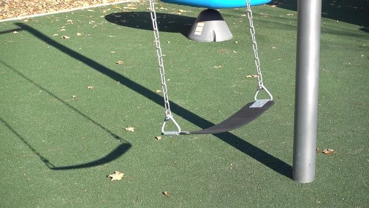 Empty Children's Swing : Stock Video