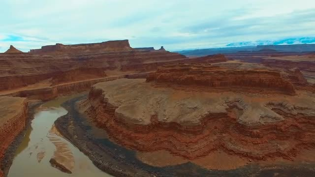 Red Rocks And Colorado River: Stock Video
