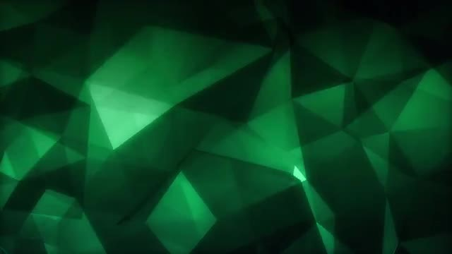 Emerald Polygons: Stock Motion Graphics