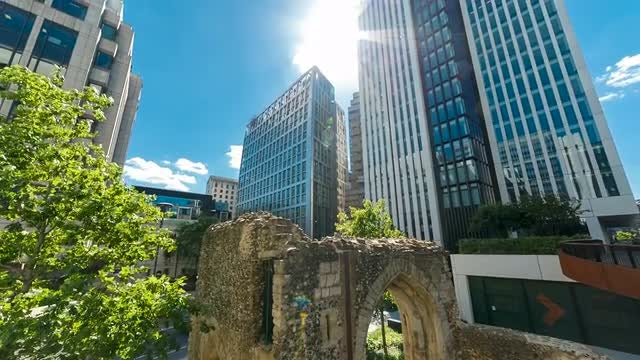 Ancient Structure In Modern London: Stock Video