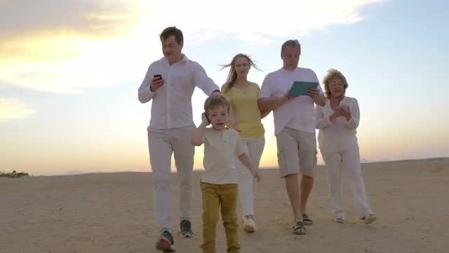 Nowadays nobody can live without modern gadgets: Stock Video