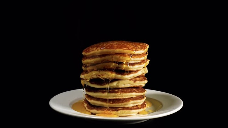 American Pancakes With Syrup : Stock Video