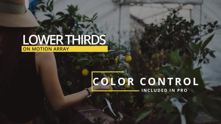 16 Lower Thirds: After Effects Templates