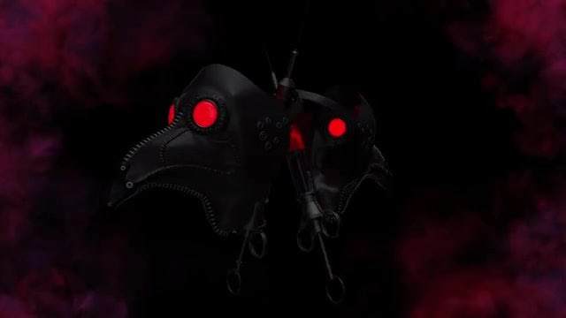 Two Plague Doctor Masks VJ Loop: Stock Motion Graphics