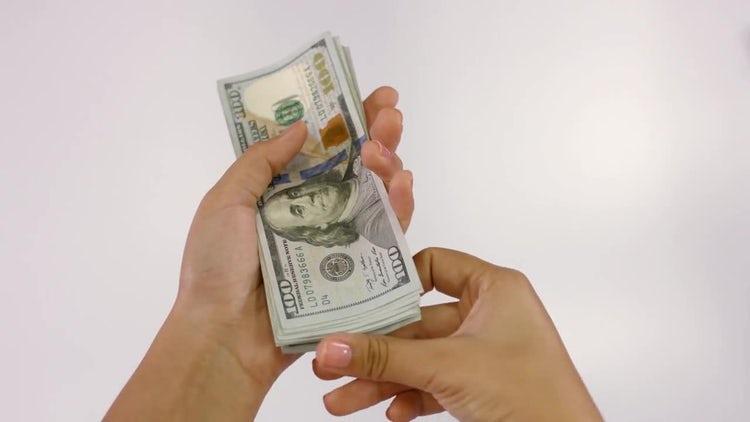 Counting Dollar Bills: Stock Video