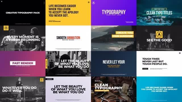 Creative Typographic Pack: Premiere Pro Templates