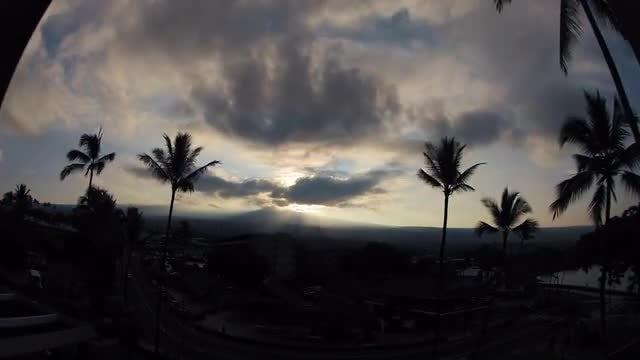 Time Lapse Of Coastal Town: Stock Video