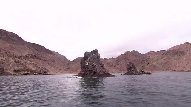 Panning Shot Of Coastline : Stock Video