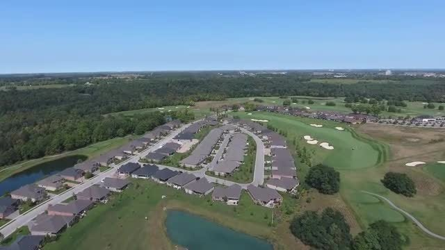 Aerial View of Suburban Golf Course : Stock Video