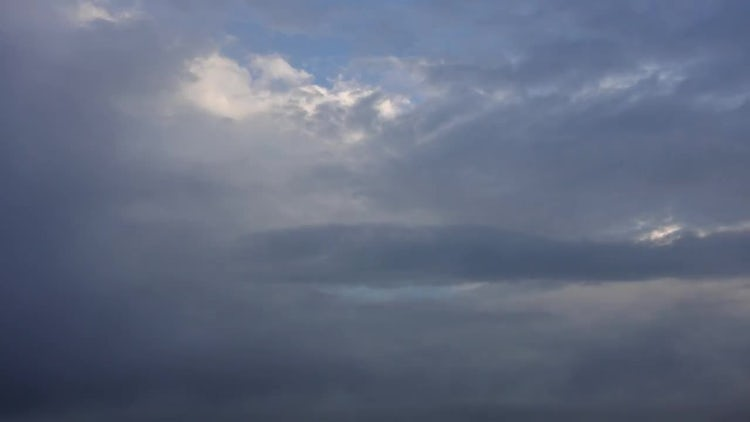 Rain Clouds With Foggy Mist Timelapse: Stock Video