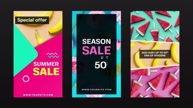 Instagram Sale Promo: After Effects Templates