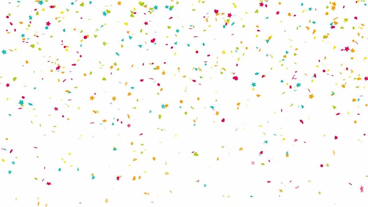 Confetti Drop Background Loop Alpha: Stock Motion Graphics