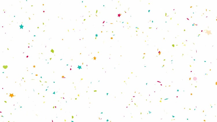 Confetti Explode Background Loop Alpha: Stock Motion Graphics