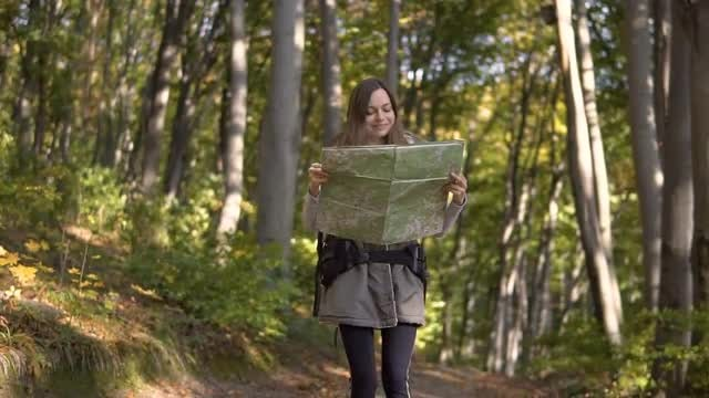 Hiker Goes On The Correct Path : Stock Video