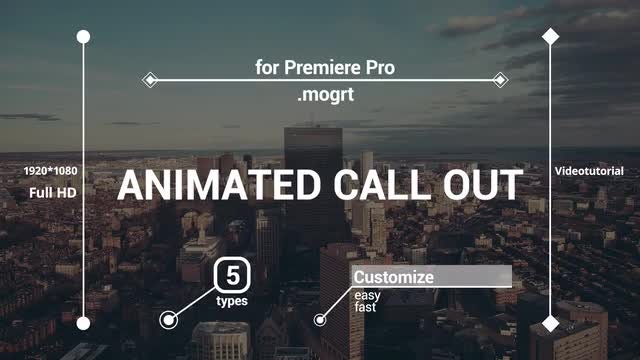 Animated call-out: Motion Graphics Templates