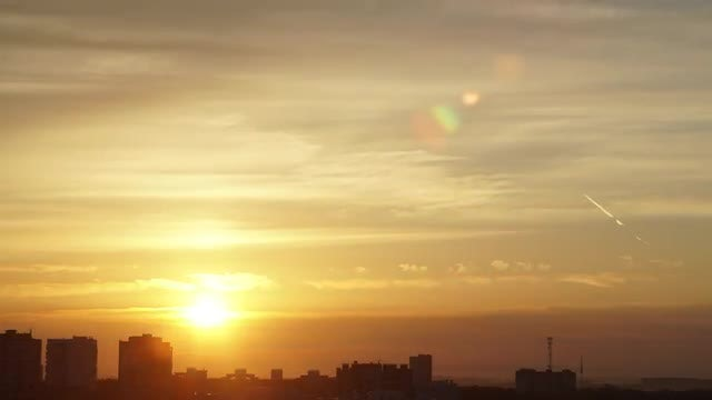 Time Lapse Of Beautiful Sunrise: Stock Video
