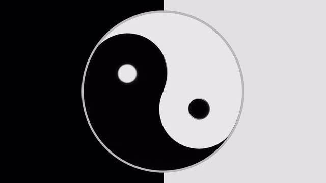 Yin Yang Slow Spinning: Stock Motion Graphics