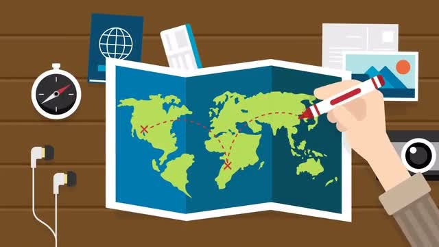 Planning Trip Scene Animation: Stock Motion Graphics