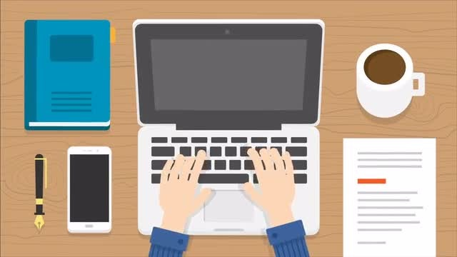 Laptop Typing Scene Animation: Stock Motion Graphics