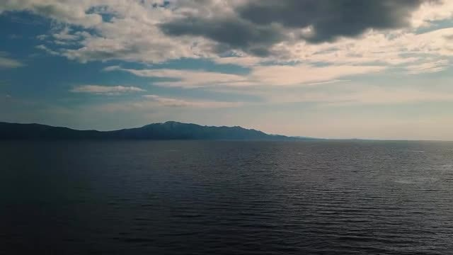 Amazing Clouds And Ocean Aerial: Stock Video
