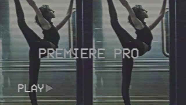 Glitch Opener VHS: Premiere Pro Templates