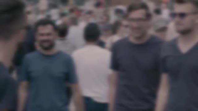 Anonymous People Walking In Slow Motion : Stock Video