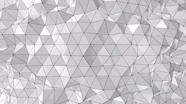 Gray Shades Of Polygons: Stock Motion Graphics