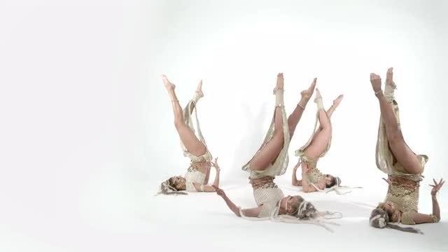 Female Dancers Performing Indian Dance: Stock Video