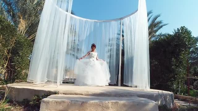 Young Bride Posing For Photos: Stock Video