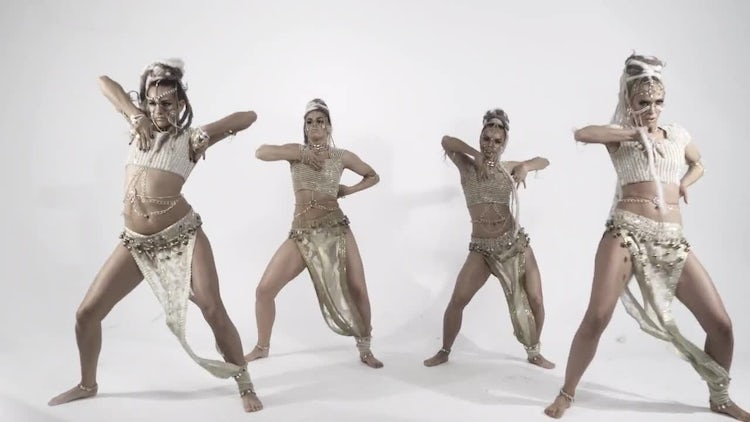 Beautiful Female Dancers : Stock Video