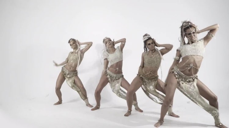 Female Dancers Performing : Stock Video