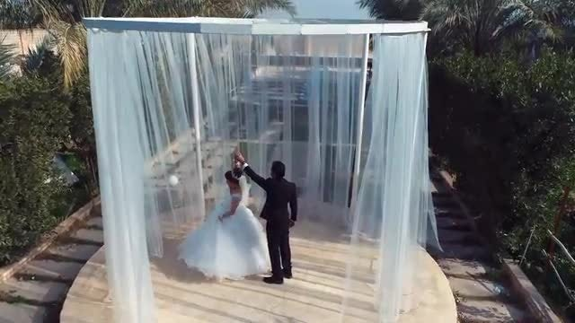 Bride And Groom Dancing Salsa: Stock Video