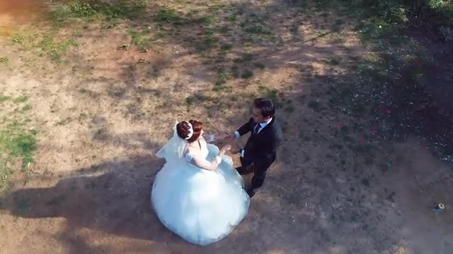 Bride And Groom Dancing Outdoors: Stock Video