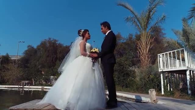 Bride And Groom By The Pool: Stock Video