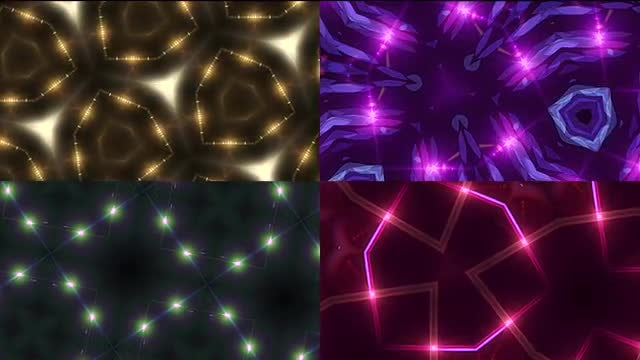 Glowing Geometric Backgrounds Pack: Stock Motion Graphics