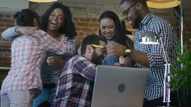 Man Celebrating Good News : Stock Video