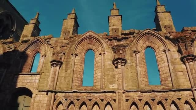 Holyrood Abbey In Scotland: Stock Video