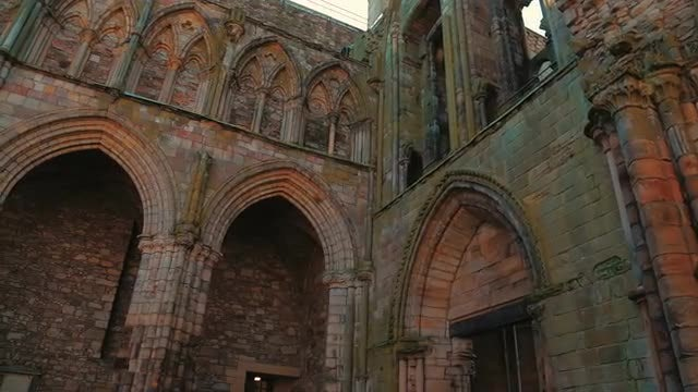 Ruins Of Holyrood Abbey : Stock Video