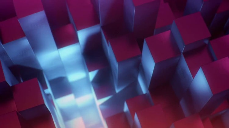 Orbiting Cubes Background: Stock Motion Graphics
