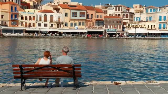 Senior Couple Enjoying Vacation: Stock Video