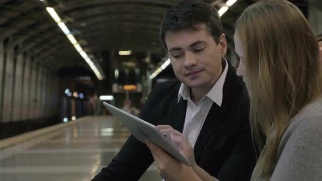 Doing Business Everywhere With Tablet : Stock Video