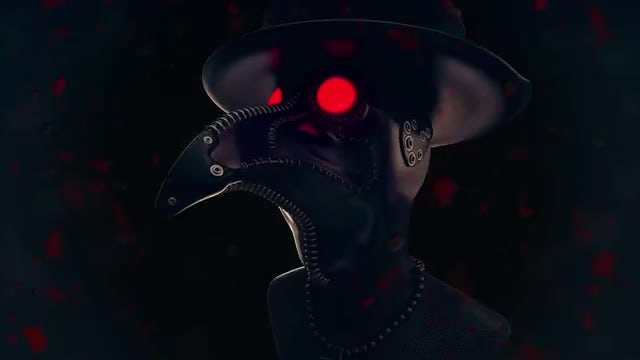 Plague Doctor VJ Loop: Stock Motion Graphics