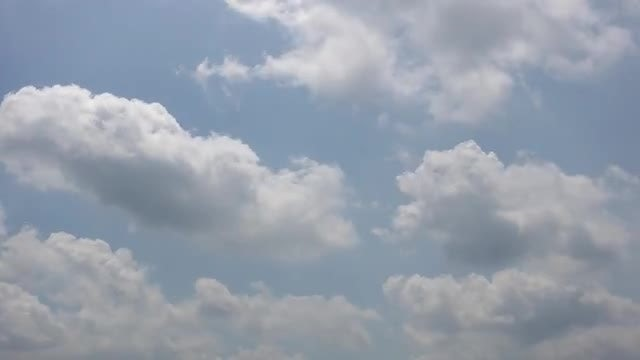 White Puffy Clouds Moving: Stock Video