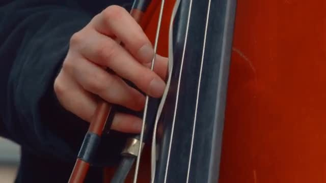 Street Musician Playing Cello: Stock Video
