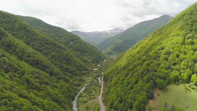 Aerial View Of Beautiful Mountains: Stock Video