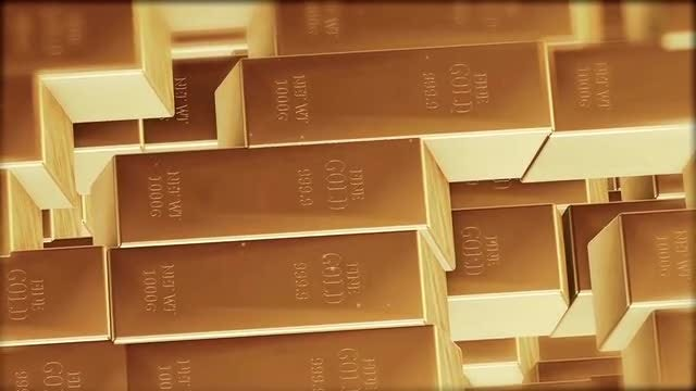 Stack  Of Gold Bars: Stock Motion Graphics